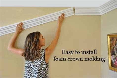how to install crown molding on top of kitchen cabinets ideas design tips for installing foam crown molding
