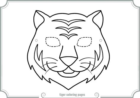 tiger mask coloring pages printable coloring pages tiger