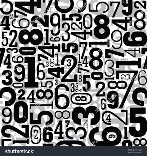 pattern for numbers in html black seamless pattern with numbers stock vector 97653026
