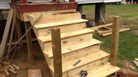 how to build a deck onto a used mobile home