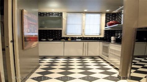Black And White Kitchen Floor Ideas by White Tile Kitchen Floor Black Kitchen Flooring Ideas