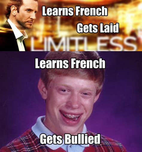 Meme In French - learning french bad luck brian know your meme