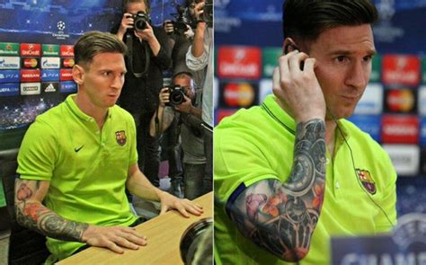 messi tattoo may 2015 lionel messi tattoos from year to year inspirationseek com