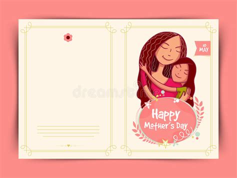 mombirthday card template happy mothers day celebration greeting card design stock