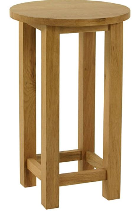 Side Table With Built In Lamp Langdale Solid Oak Furniture Tall Circular Lamp Table Ebay
