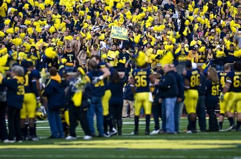 Michigan Student Section by Students Upset Increased Michigan Football Ticket