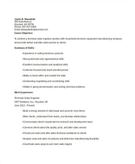 Sales Engineer Resume by 18 Professional Sales Resume Templates Pdf Doc Free