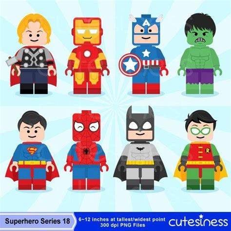 printable heroes drive lego digital clipart lego superhero clipart by cutesiness