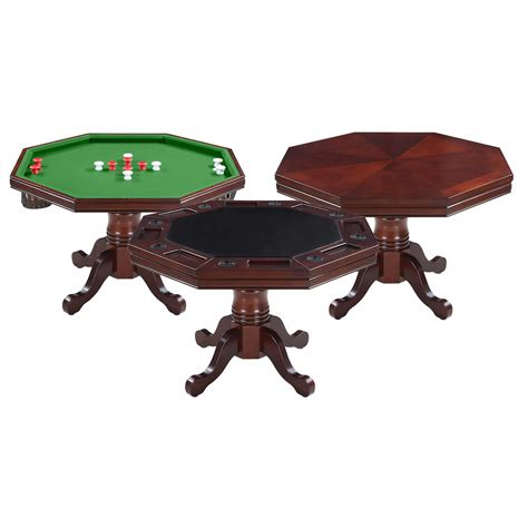 kingston walnut 3 in 1 poker pool warehouse
