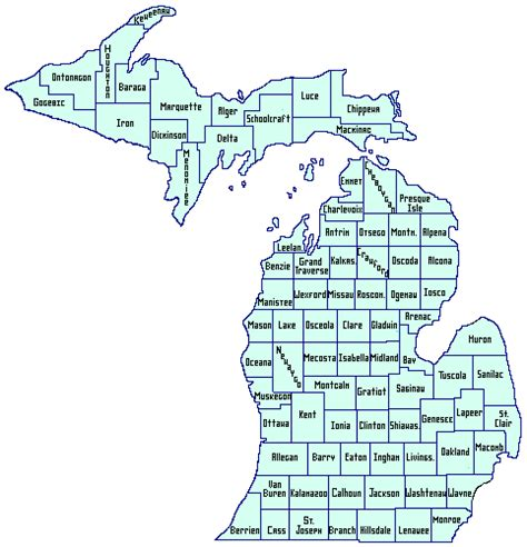 michigan counties map wayne county local history network