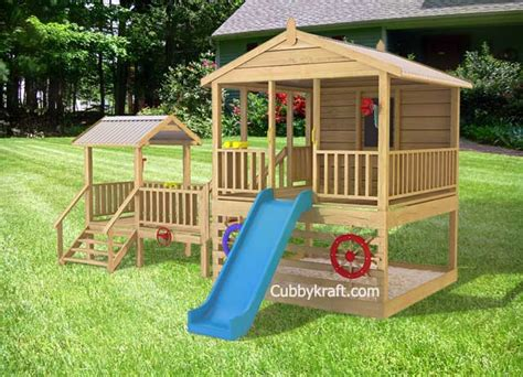 backyard play fort townsville tower wooden playground equipment cubby house
