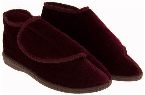 diabetic slippers for coolers burgundy adjustable orthopaedic diabetic
