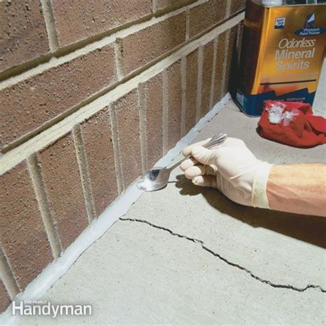 caulking concrete cracks  family handyman