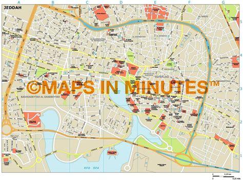 jidda map royalty free jeddah illustrator vector format city map