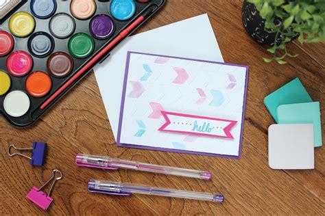 Make Watercolor Paper - diy watercolor cards with embossed detail darice