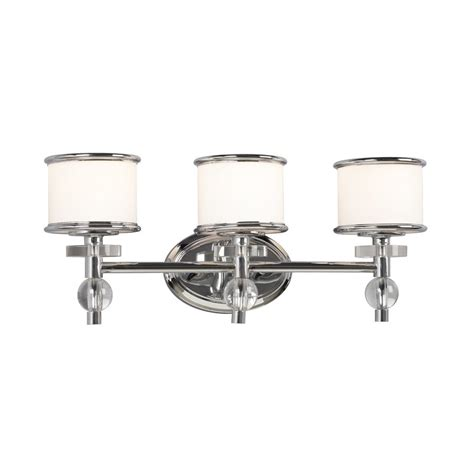 chrome bathroom vanity lights shop galaxy 3 light hilton chrome art glass standard