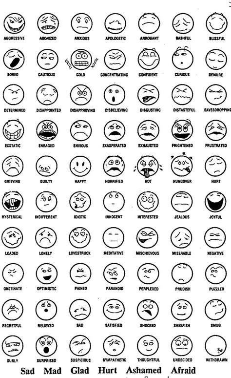 faces of emotion printable feeling faces coloring sheet counseling resources