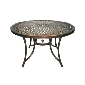 shop garden treasures devonshire circle metal patio table