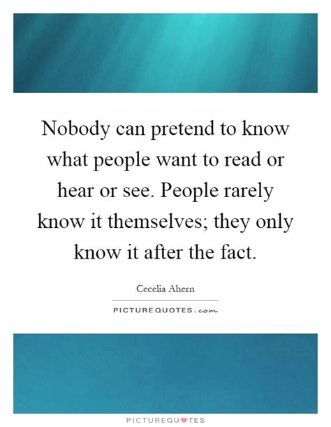 Knows What Readers Want by Nobody Can Pretend To What Want To Read Or
