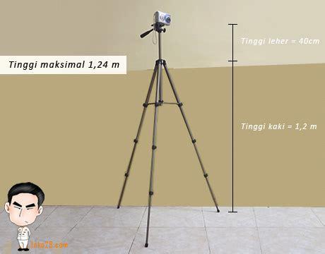 Tripod Untuk Kamera Slr tripod kamera dslr tinggi 1 2 m berat 655gr kapasitas 2 5kg