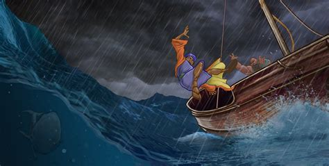 jonah thrown off the boat the art of jeff west jonah and the whale page 3 5 6
