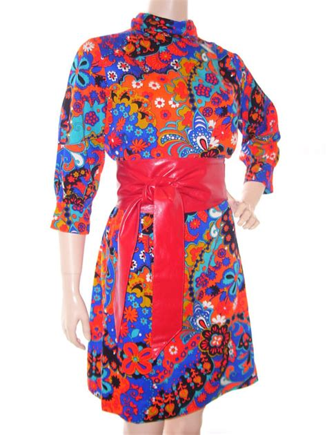 1960 s vintage psychedelic dress hippie couture