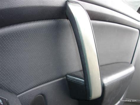 how to replace 1993 infiniti g rear door actuator g35 door bezel door pull bezel rubbery paint peeling