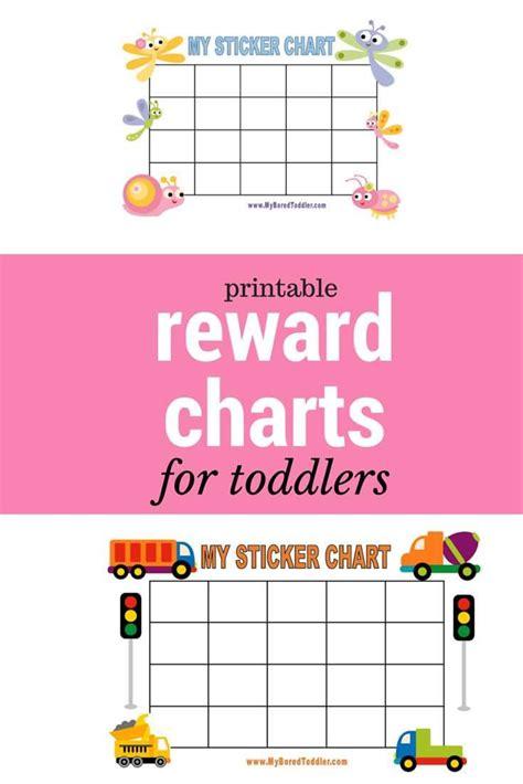 printable reward charts charts toddlers  rewards chart