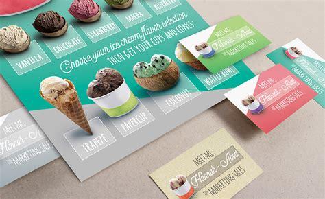 flyer design on behance modern ice cream parlour flyer on behance