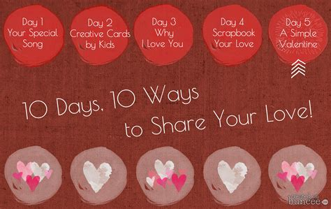 10 Ways To Find A Date For Valentines Day by 10 Days 10 Ways Simple Personal Valentines Day