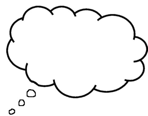 Thought Template thought speech clipart clipartix