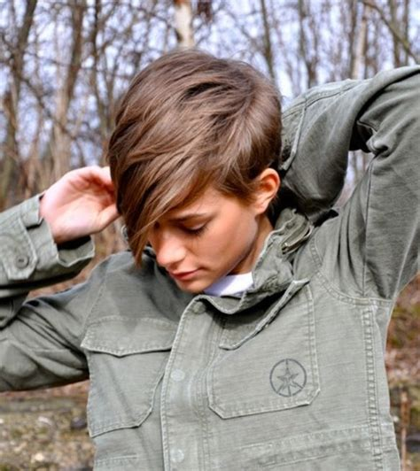 feminine tomboy look hair pinterest feminine