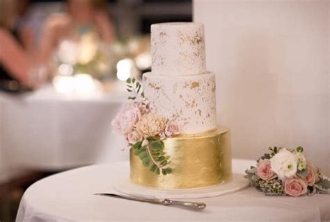 Contemporary Kitchen Designs Distressed Gold Wedding Cakes And Antiqued Effects