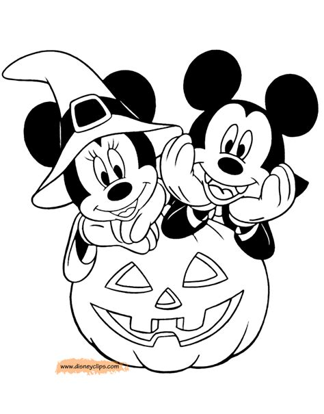 mickey mouse pumpkin coloring page disney halloween coloring pages 5 disneyclips com