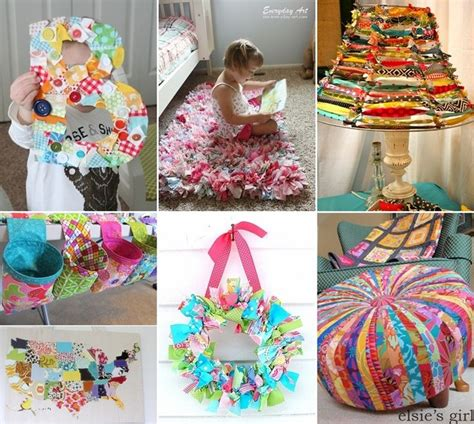 Sew Home Decor Scrap Material Up Cycling Diy Click To Link For D I Y Pinterest Kid Home