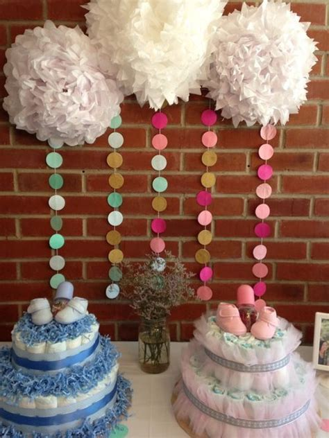 baby shower decoration ideas diy circle bunting backdrop