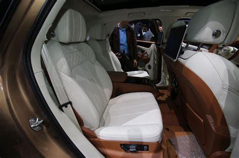 bentley interior back seat 2017 bentley bentayga suv revealed ahead of frankfurt