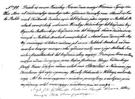 Birth Records Pre 1864 The Birth And Baptismal Record Of Stanisław Chodkowski 1864 Steve S Genealogy