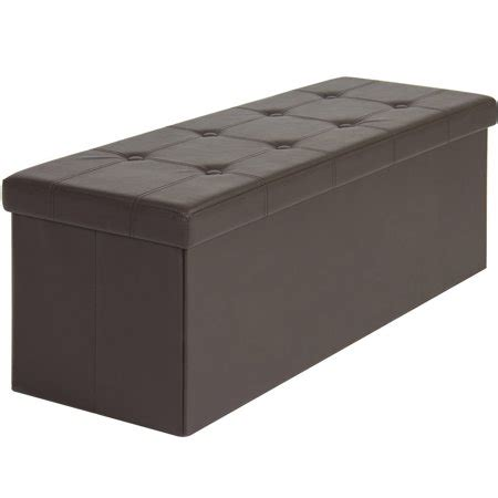 foot storage ottoman best choice products faux leather folding storage ottoman