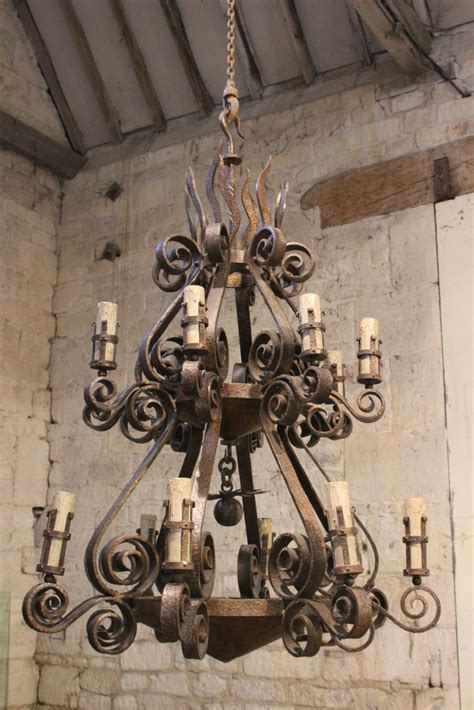 wrought iron chandeliers uk a spectacular 1950s wrought iron chandelier