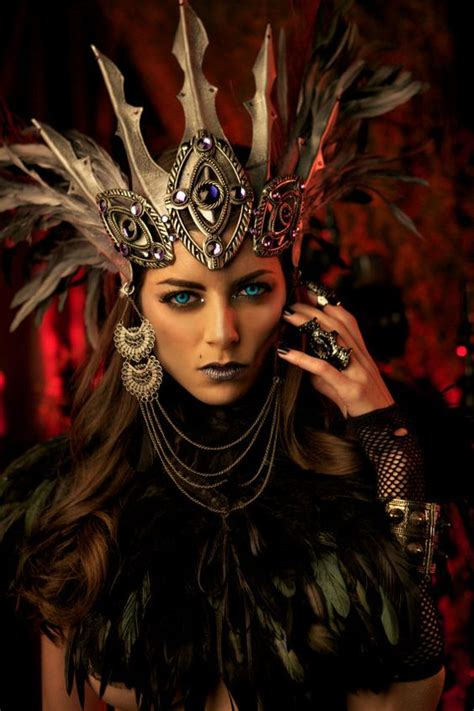 fantasy leather crown dark queen by aetherwerk she s a pinterest the world s catalog of ideas