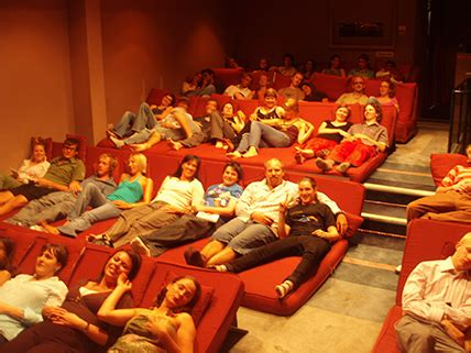 la movie theater with couches govinda s how rest cinema works