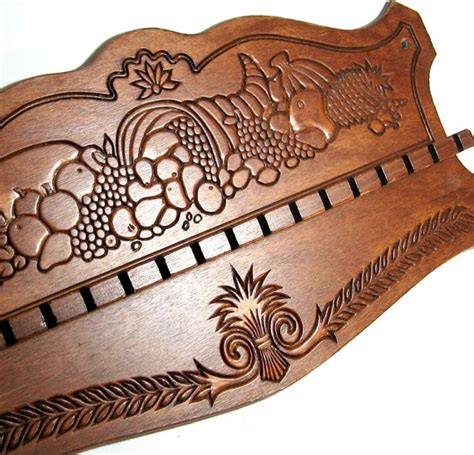 Decorative Spoon Rack by Vintage Wood Spoon Rack Wooden Spoon Holder By Flabbyrabbit