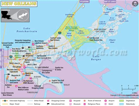 new orleans usa map new orleans map map of new orleans louisiana