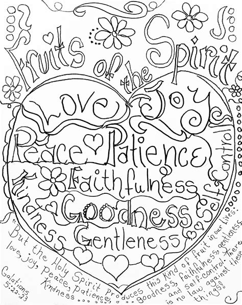 fruits of the spirit coloring page by carolyn altman