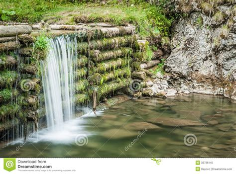 man made waterfall royalty free stock photo image 33786145