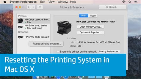 resetting printer settings resetting the printing system in mac os x youtube