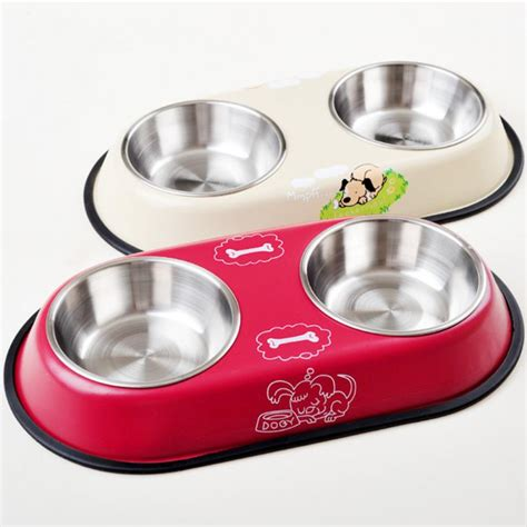 puppy feeding bowls sale dual bowls design stainless steel feeding bowl cat puppy food drink water