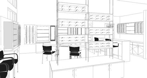 custom design architectural services  optical stores