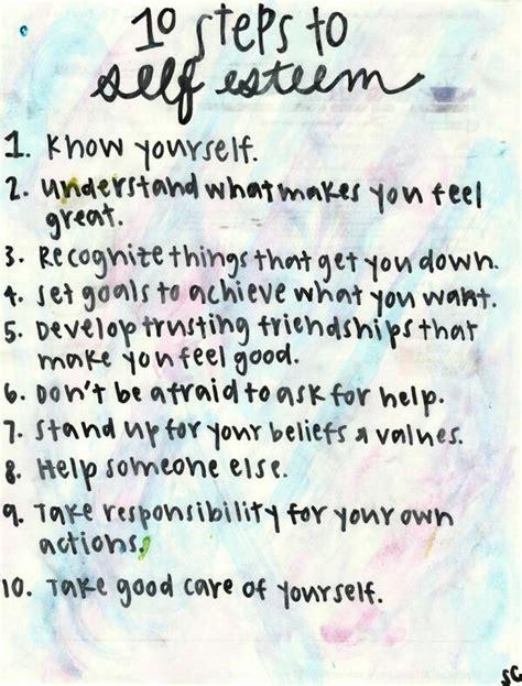 printable self esteem quotes 10 steps to self esteem a merry life